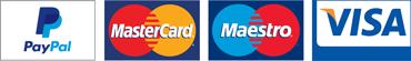 paypal, mastercard, maestro, visa